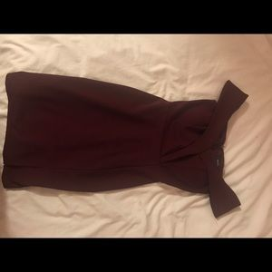 Maroon Off shoulder Bodycon Dress